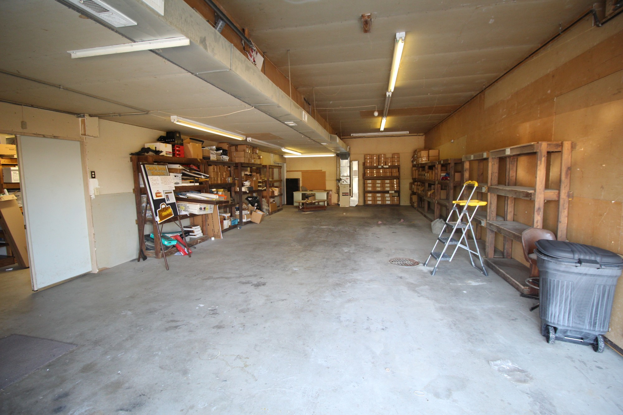 This is the storage area of the building